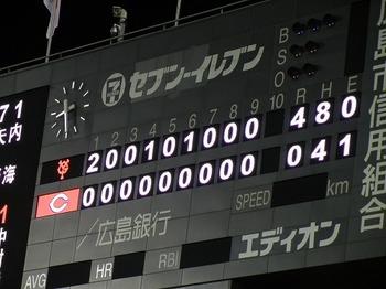 広島東洋カープVS巨人、内海の完封勝利